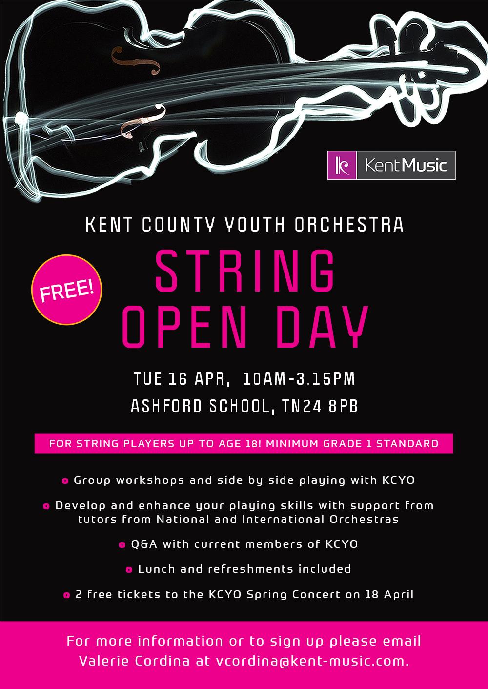 KCYO String Open Day - February 2019 | Kent Music