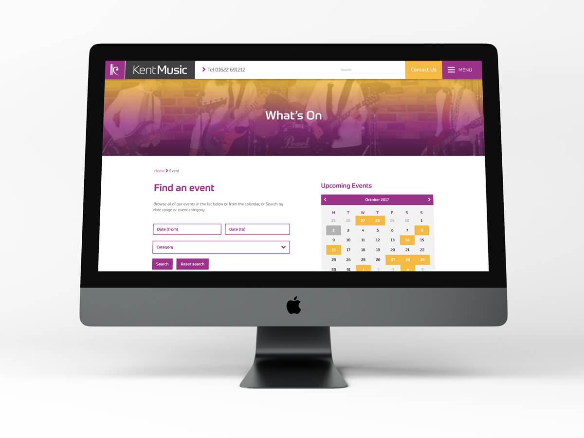 Kent Music Website Mac
