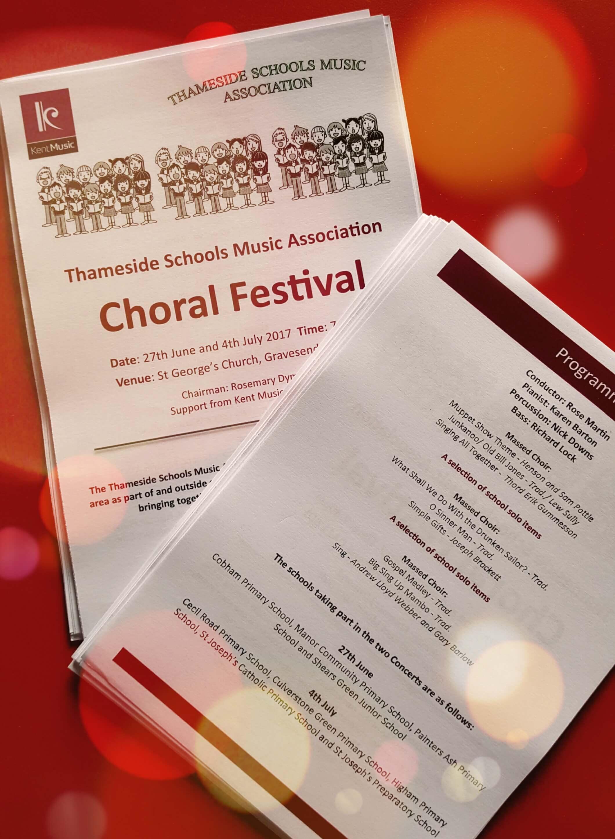 Thameside Schools Music Association Choral Festival